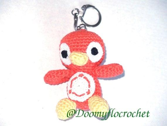 Amigurumi Linux Penguin : Ubuntu Linux penguin amigurumi Keychain crochetmade