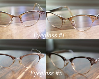 Unique 2 Pair of Cat Eyeglasses Vintage for collection or project Discount