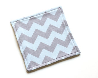 SALE || Reusable Cloth || 18cm x 18cm || Chevron Purpley-Grey || Fleece Backing