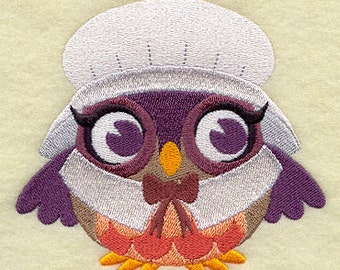 Thanksgiving Owl - Pilgrim Girl - Embroidered on Made-to-Order Pillow Cover