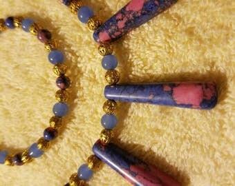 Howlite gemstone jewelry set