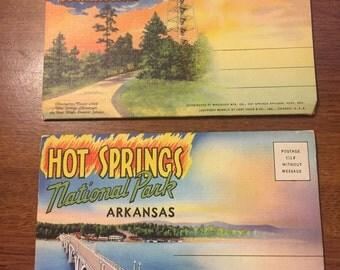 2 Hot Springs, Arkansas postcard packets