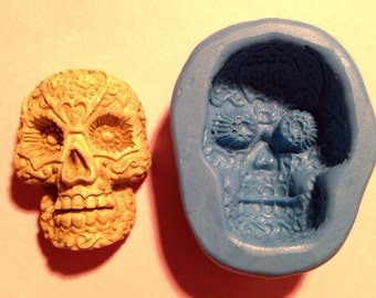 Mexican skull silicone mould