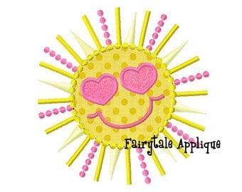 Digital Machine Embroidery Design -  Scalloped Sunshine