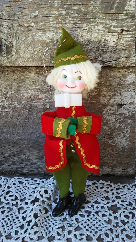 Items similar to clearance sale vintage pixie elf tree for Christmas ornament sale clearance
