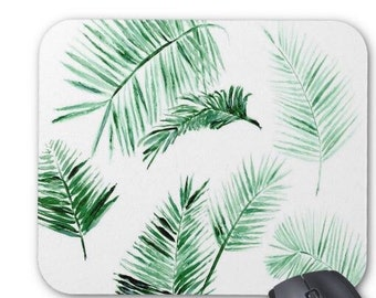 Palm Leaf Mousepad, tropical mousepad, leaf mousepad, palm mousepad, leaves mousepad, modern mousepad, leaf mouse pad, palm mouse pad