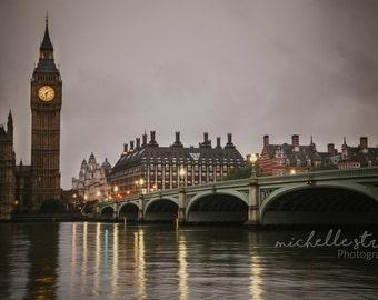 London Photography, Big Ben Clock, Westminster Bridge, European Prints, Travel Photography, Bridge, Interior Design, England, Home Decor