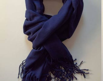 New Season Best Quality Cotton Shawl Navy Blue