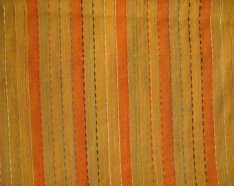 Handloom Woven Cotton Light Weight Sheer  Stripes Cotton Fabric Sold by Yard