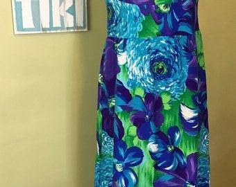 Vintage Hawaiian Dress, Size Medium