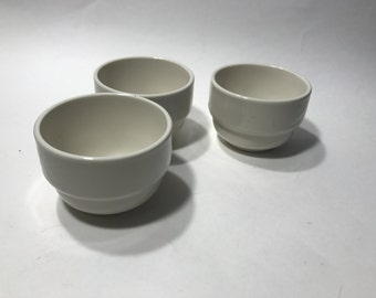 Vintage Homer Laughlin USA LYRICA Soup Cups Bowls Set of 3 Restaurant Ware