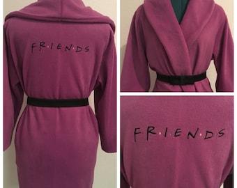 FRIENDS Monogrammed Robe, Valentine's Day Gift, Personalized Robe, Robe Monogram, Light Purple Robe, Fleece Robe, Fluffy Robe, Bathrobe