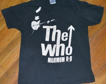 1989 THE WHO shirt vintage concert tour rare original rock band tee tshirt Medium/Large (M/L) 80s 1980s Keith Moon Pete Townshend