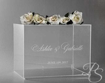"Wedding Card Box, Money Box, Card Holder, Personalized Wedding Card Box, rustic wedding, unique card box - 16""x12""x12""H"