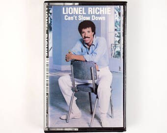 """1983 Lionel Richie """"Can't Slow Down"""" Cassette Tape, Penny Lover, Hello, Running With The Night, All Night Long, Stuck On You"""