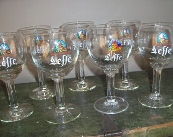 Set of 7 Leffe Belgian Beer Glasses