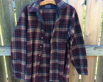 PENDLETON vintage wool 1960s long-sleeved button-down shirt