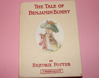 Beatrix Potter Collectible The Tale of Benjamin Bunny  c. 1950's