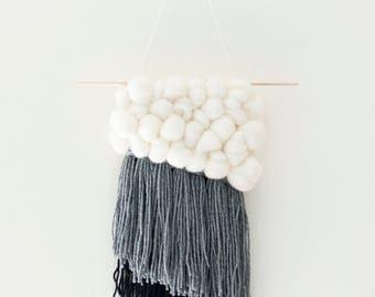 Cloudburst Weaving / tapestry /ready-to-ship