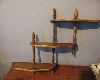 Wood 3 Tired Adjustable Shelf