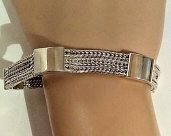 Suarti Bali BA 925 Sterling Silver Weat chain Bracelet