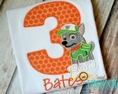 Paw Patrol Rocky Birthday Shirt - Number Can Be Changed - Add A Name For FREE - First Second Third Fourth Fifth Birthday