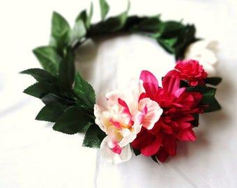 Floral Headpiece, Boho Flower Crown, Floral Head Wreath