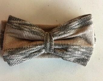 Knit Headwrap in Oatmeal Knit Stripe