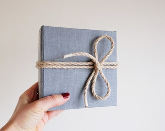 Photo Album, Ready to Ship, Mini Photo Album, Instant Wedding Guestbook, Linen, Baby Shower, Minimalistic Wedding