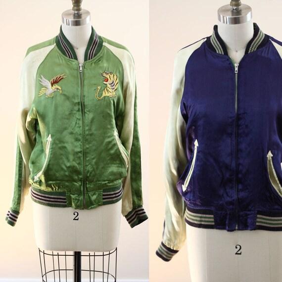 1960 Japanese Sukajan jacket  // reversible jacket // vintage Sukajan jacket