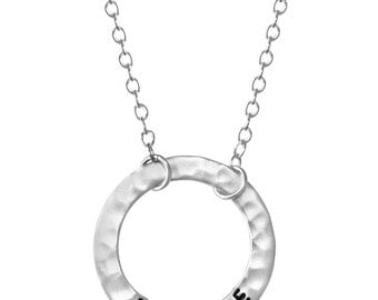 BREATHE Infinity Circle Necklace - Sterling Silver