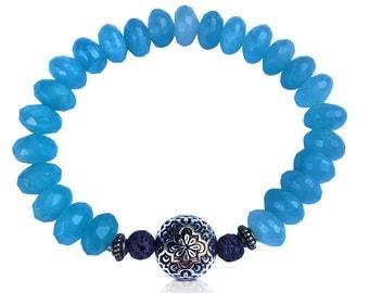 Cosmic Dharma Bracelet with Aquamarine Quartz
