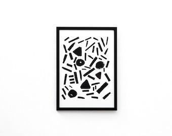 Harmony Screen Print | Screen Printed, Minimalist Screen Print | Wall Decor | Wall Print | Hand Screen Printed