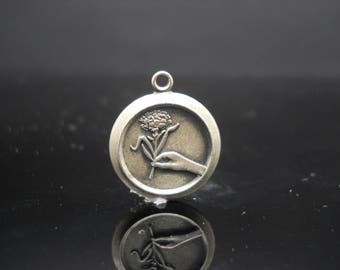 ABWA Plant Hand Charm Sterling Silver American Business Womens Association 925 Jewelry
