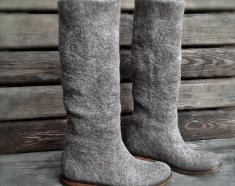 Felted boots LINDA