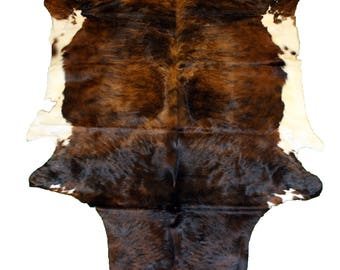 Glacier Wear Cow Hide Leather Hair-On Rug #039