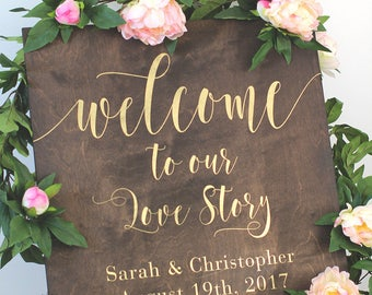 Wood Wedding Welcome Sign | Wedding Welcome Sign | Wood Wedding Sign | Rustic Wedding Decor | Rustic Wedding Sign - WS-248