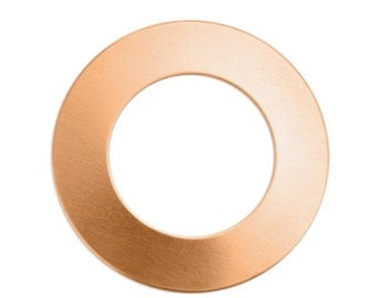 "5-11) 1-1/4"" 24G COPPER WASHER BLANKS, large Washer Blanks, 1.25"" washers w 1/4"" ring, jewelry stamping blanks, copper washers, lowest price"