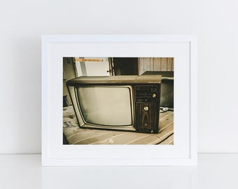 Retro TV - Urban Exploration - Fine Art Photography Print