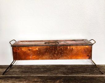 Vintage Copper Fish Poacher - French Kitchen - Copper Poacher - Fish Kettle