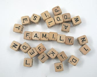 Vintage Scrabble Cubes Collection
