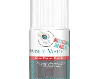 Wisely Made Bum Bum Butter/ Cloth Diaper Friendly/ All Natural Diaper Balm/ Diaper Ointment