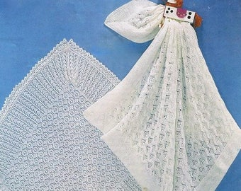 VINTAGE KNITTING PATTERN for 3 ply shawls sh06