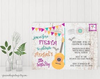 Fiesta Birthday Invitation, Kid's Birthday Party, Children's Party Invite, digital, printable, K9009