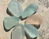 Genuine Sea Glass Pendants, Loose Gemstones, Natural, Glass Inlay,  Unique, Tribal, Artisan, Found Objects, Beach Glass Decor