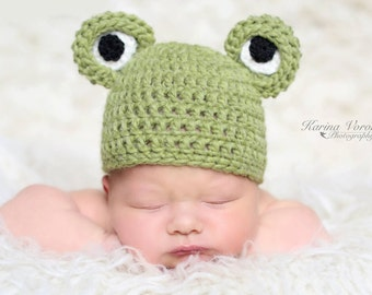 Newborn hat - Newborn frog – Baby props – Newborn boy – Photo props – Baby boy frog – Newborn props – Baby boy props - Frog hat - Animal hat