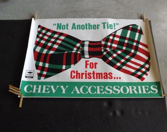 Chevrolet Christmas Poster Not Another Tie Chevy Accessories