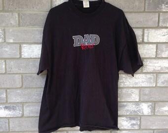 cool dad rocks black t shirt