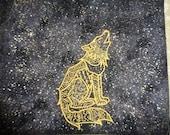 Bestickte Spirit Wolf - Tarot, Rune oder magischen Zweck Kordelzugbeutel