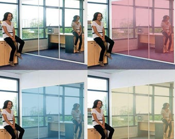 Custom Privacy One Way Mirror Film Sticker for Glass / Office Security Transparent Window Decal / Die Cut Outside Window Layer + Free Decal!